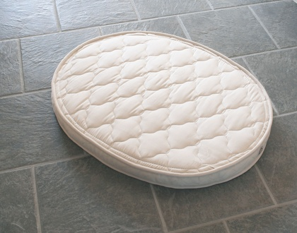 OrganicPedic Certified-Organic Natural Rubber Oval & Bassinet Crib Mattresses