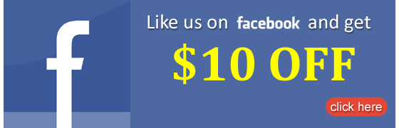 "Coupon for ""LIKE"" our Facebook Page---$10 OFF"