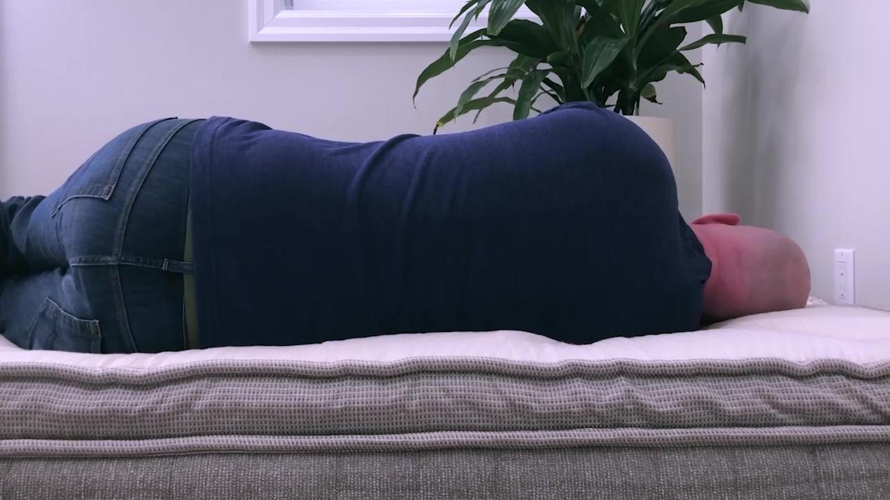 Brentwood Home Cedar Mattress Side Sleeping
