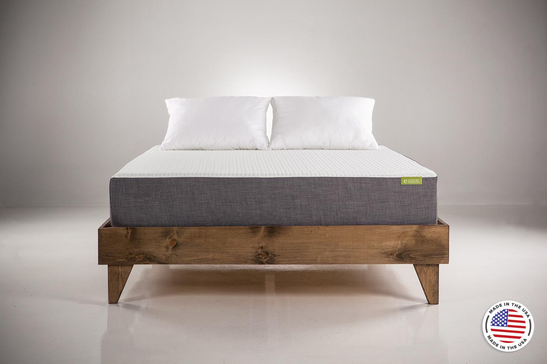 Twin bed top view - Eluxurysupply Eluxgel10 Front View