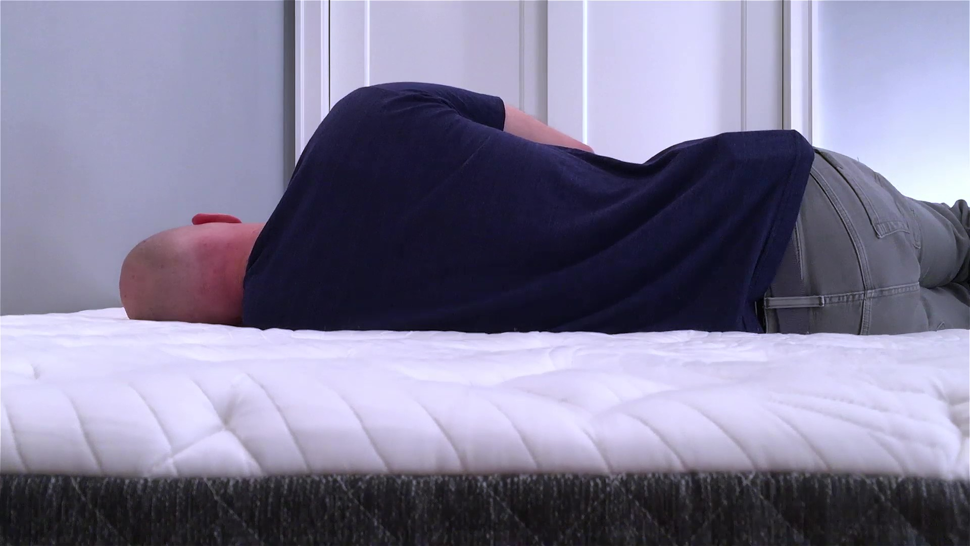 GhostBed Luxe Mattress Side Sleeping