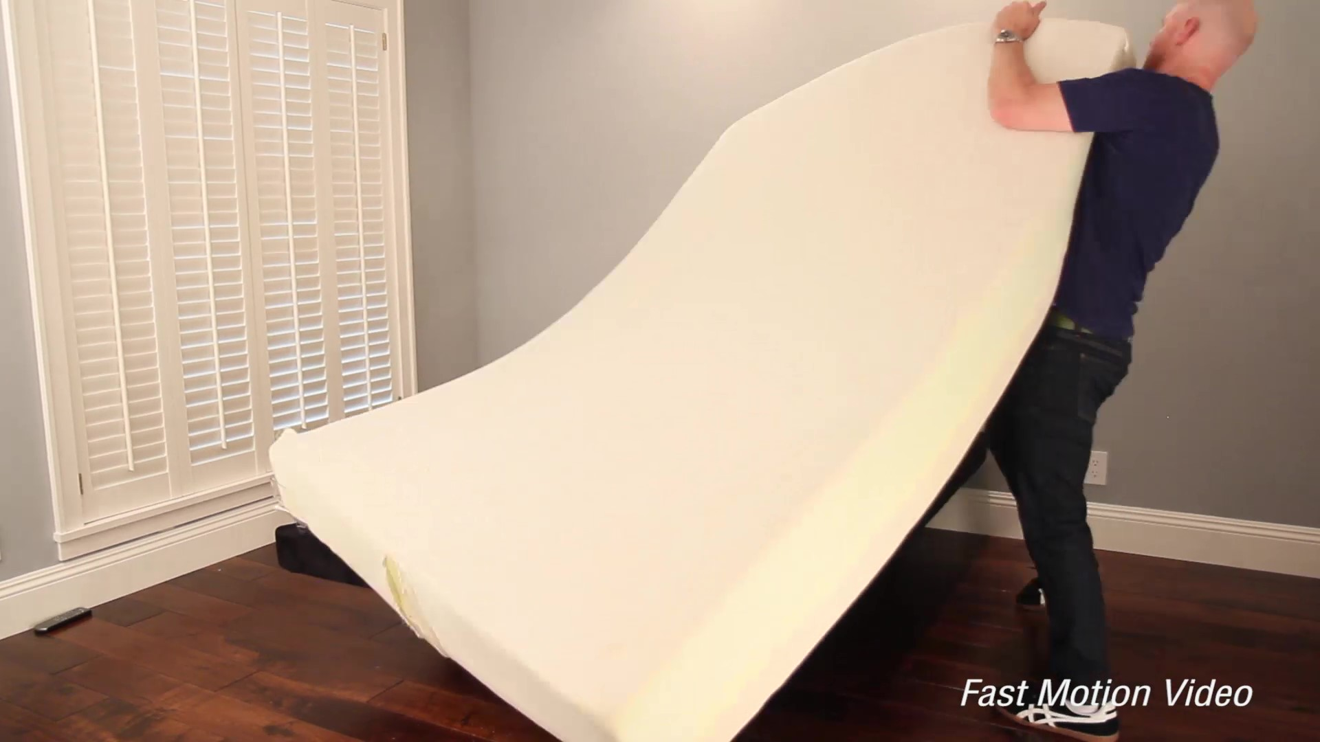 Flipping over the Layla Mattress