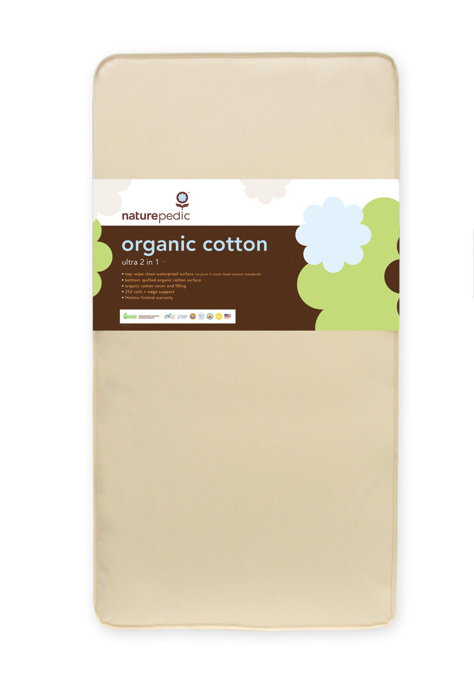 Naturepedic 2 In 1 Organic Cotton Ultra Crib Mattress Mc45