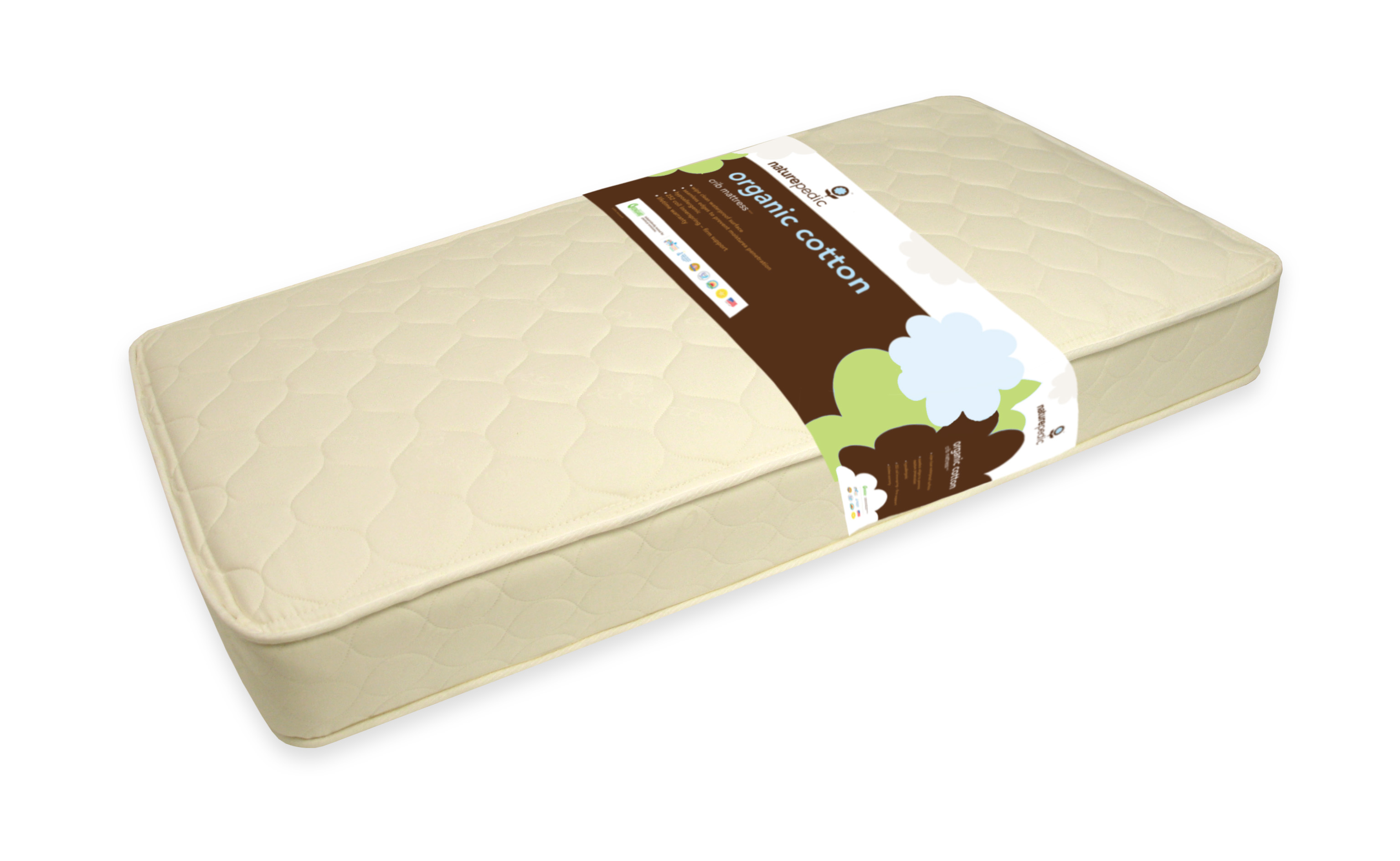 Naturepedic Baby Quilted Deluxe Organic Cotton Crib MC50