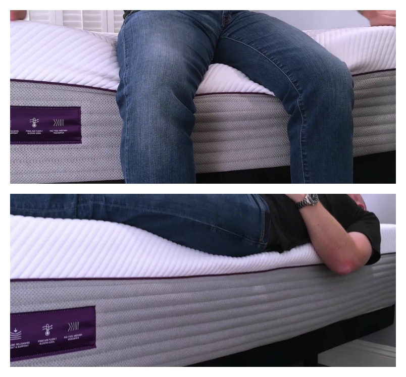 Purple 4 Mattress Edge Support