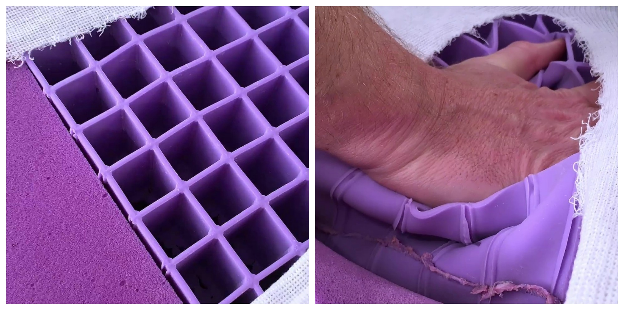 Honeycomb Gel on the Purple Mattress