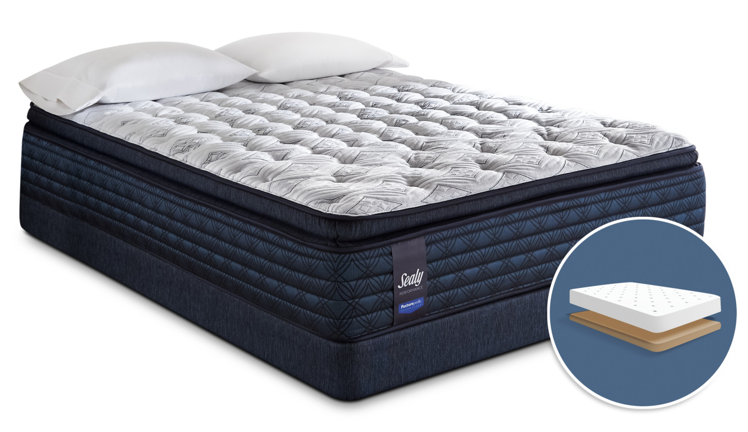 product br charcoal palmharbor king palm performance mattress set sealy mat harbor mattresses