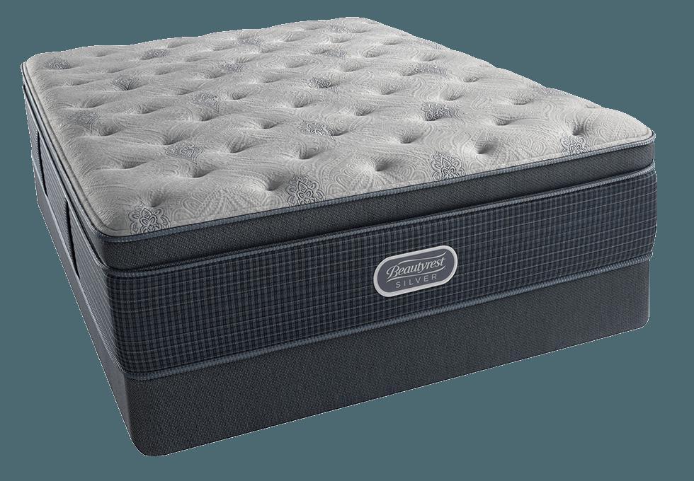 Simmons Beautyrest Silver Charcoal Coast Plush Pillowtop