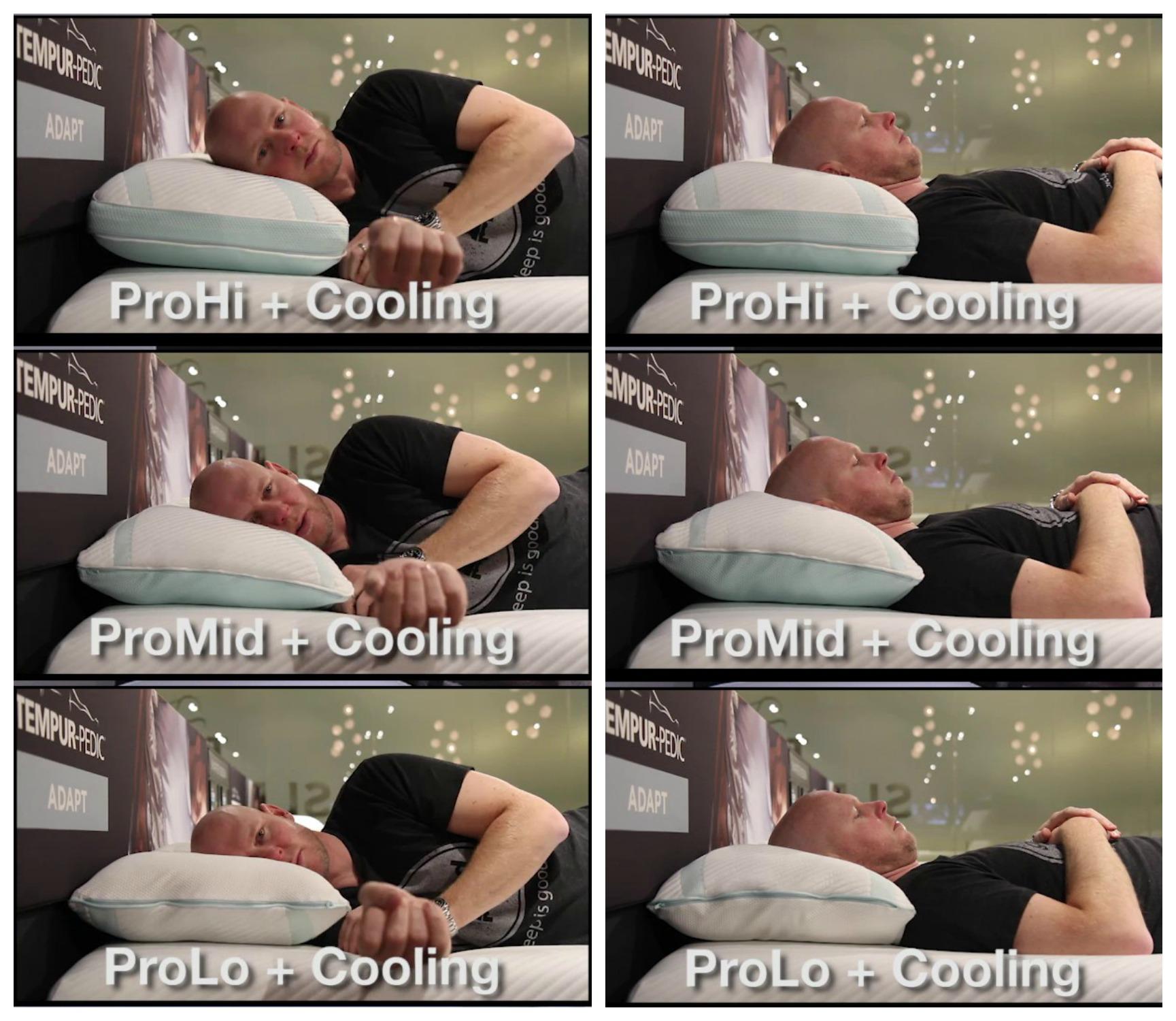 Tempur-Adapt Pro Pillows Comparison