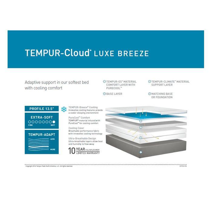 Tempur Cloud Luxe Breeze Mattress Reviews Goodbed Com